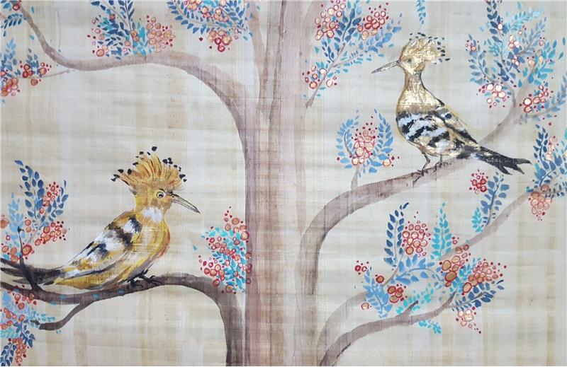 在尼羅河畔-許翠華創作紀實展與「印跡」西班牙藝術家米蓋爾油畫展