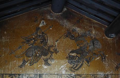 虎邊灰壁壁畫