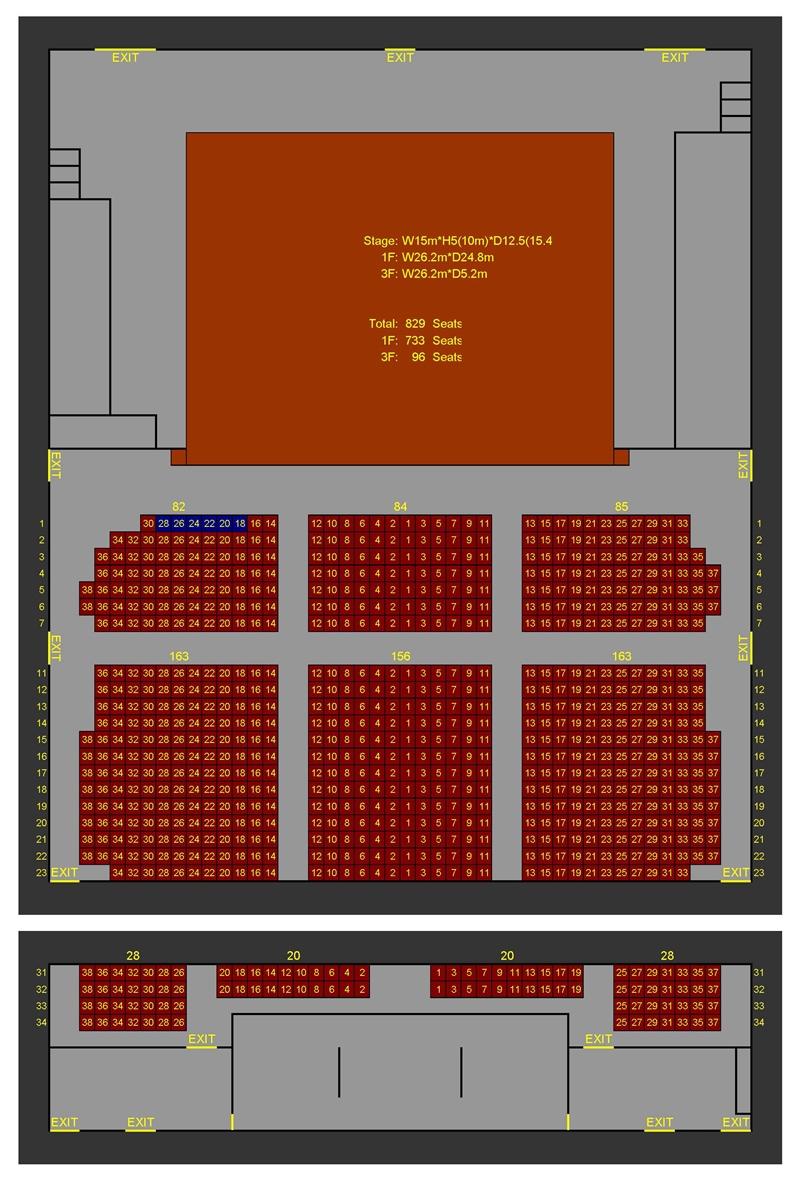 演藝廳座位平面圖new