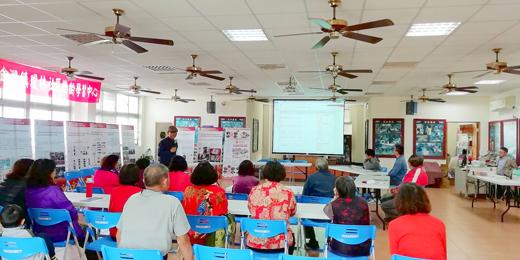 文化局委託執行單位在瓊林里辦公處舉辦「瓊林聚落在地創新發展產業徵選說明會」。 (主辦單位譜記有限公司提供)